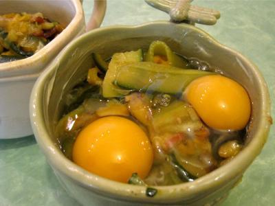Sauté de légumes et ses oeufs au bain-marie - 9.3