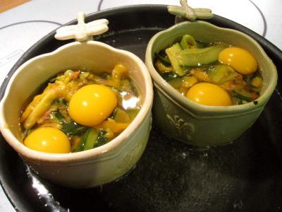 Sauté de légumes et ses oeufs au bain-marie - 10.3