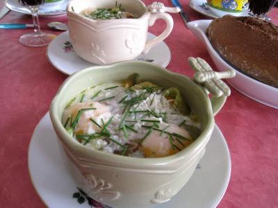Recette Bol de sauté de légumes et ses oeufs au bain-marie
