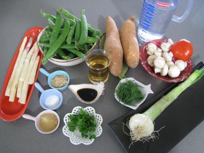 Ingrédients pour la recette : Minestrone aux asperges