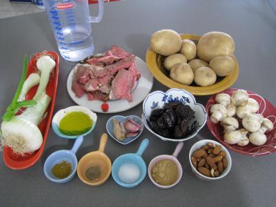 Ingrédients pour la recette : Tajine aux restes de gigot façon marocaine