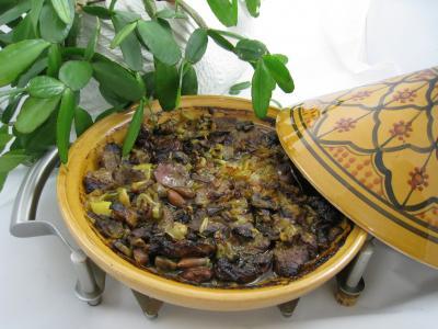 plat complet : Tajine aux restes de gigot façon marocaine