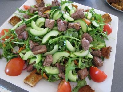 Salade d'asperges et crudités - 9.4