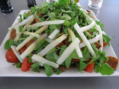 Recette Salade d'asperges et crudités