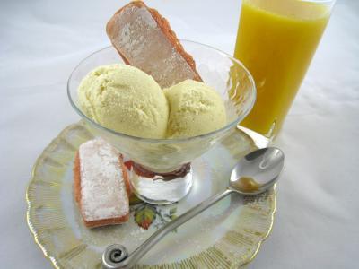 Photo : Coupe de glace à la vanille pour personnes diabétiques