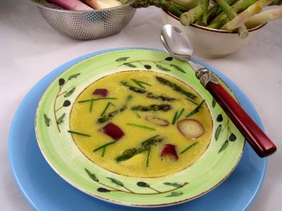 Recette Crème d'ognasses et d'asperges façon landaise