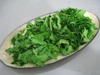Polenta aux ognasses, aux épinards et aux asperges - 5.2