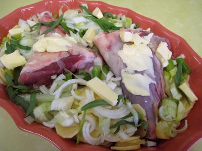 Souris d'agneau aux pommes de terre et aux oignons - 5.4