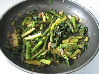 Omelette d'asperges au chou et aux ognasses - 7.1