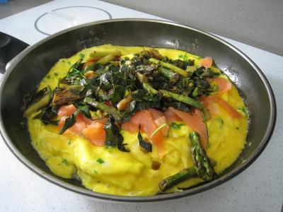 Omelette d'asperges au chou et aux ognasses - 10.1