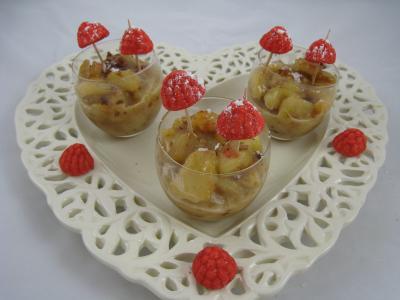 Recette Verrines de poires aux noix de cajou et aux amandes