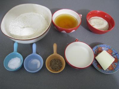 Ingrédients pour la recette : Pain d'épices à la bourguignonne