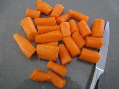 Sauté de carottes et fèves à la semoule - 1.4