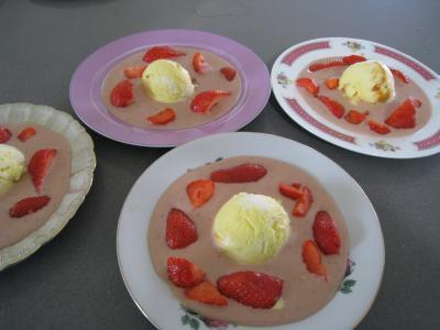 Recette Sauce glacée aux fraises