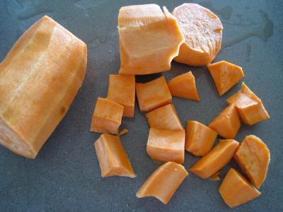 Sauté de chou pointu aux patates douces - 2.2