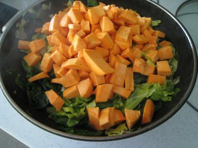 Sauté de chou pointu aux patates douces - 4.4