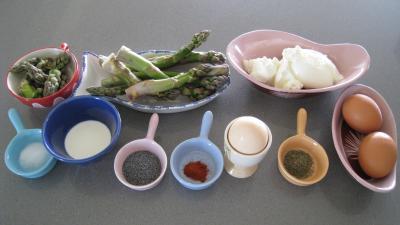 Ingrédients pour la recette : Verrines aux asperges et au mascarpone