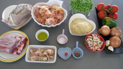 Ingrédients pour la recette : Paella à la Valenciana