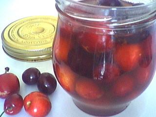vinaigre blanc : Bocal de cerises au vinaigre