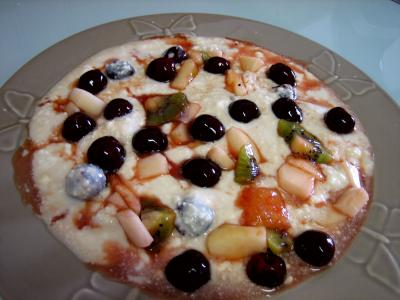 Fromage blanc aux cerises