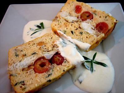 saumon : Part de terrine de saumon aux cerises