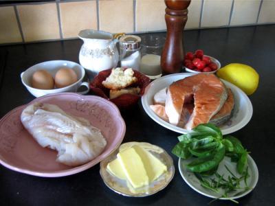 Ingrédients pour la recette : Terrine de saumon aux cerises
