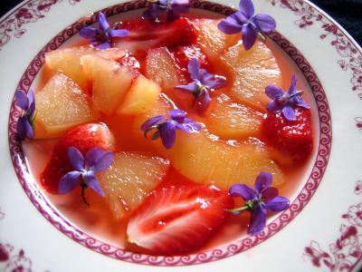 Soupe de violettes à l'ananas et aux fraises - 6.1