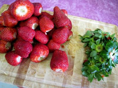 Mousse rosée glacée aux fraises - 1.3