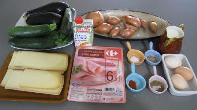 Ingrédients pour la recette : Aubergines à la raclette