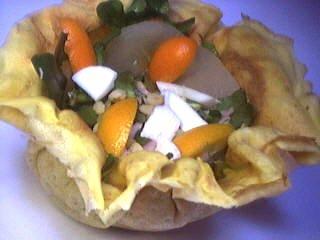 Recette Aumônières de crêpes aux kumquats