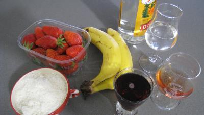 Ingrédients pour la recette : Boisson fraises et bananes à la mexicaine