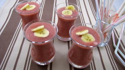 Image : recette Boisson fraises et bananes  la mexicaine