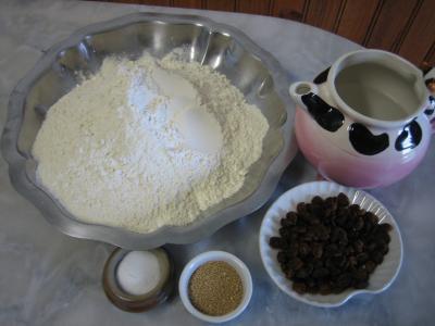 Ingrédients pour la recette : Pain aux raisins secs