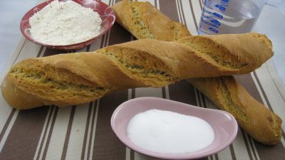 Recette Baguettes de pain