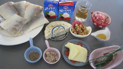 Ingrédients pour la recette : Sandre à la fourme d'ambert façon auvergnate