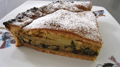 legumes sucrés : Part de tourte de blettes à la niçoise