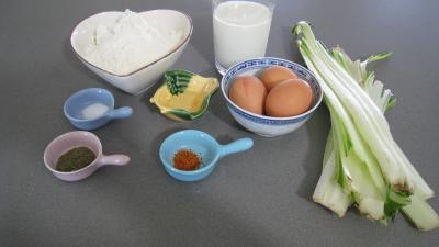 Ingrédients pour la recette : Beignets de cardes de bettes