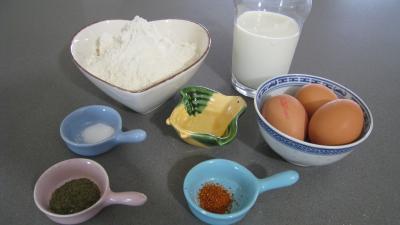 Ingrédients pour la recette : Pâte à frire