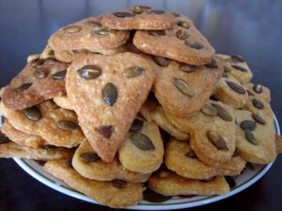 Recette Biscuits au Cantal et graines de courge