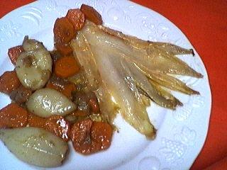 Recette Blancs d'encornets aux carottes