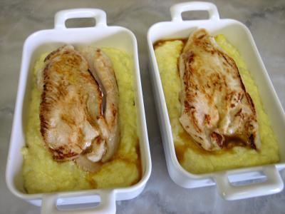 Blancs de poulet et sa purée de maïs - 9.3