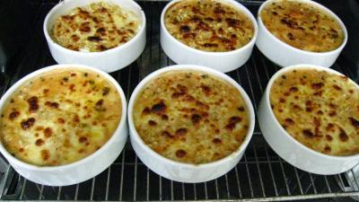Blé gratiné aux tomates et à la Mozzarella - 15.3