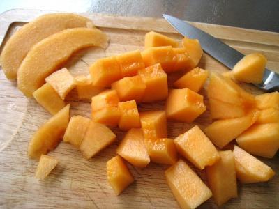Boisson pêches et melon au gingembre - 2.2