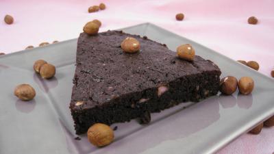 Cuisson au bain-marie : Tranche de gâteau basque au chocolat