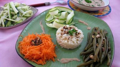 Recette Salade de haricots verts aux noisettes