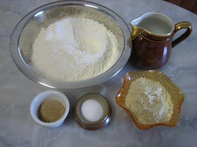 Ingrédients pour la recette : Pain au gluten