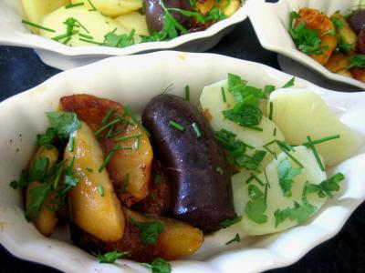cassolette : Cassolette de boudin aux ppommes et pommes de terre