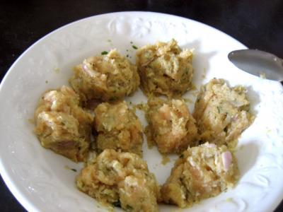 Boulettes de volaille, sauce au fromage blanc - 7.2