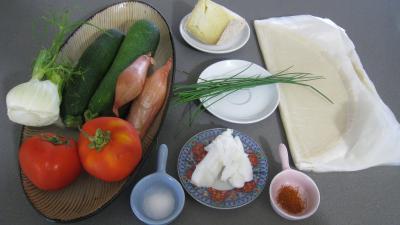 Ingrédients pour la recette : Brick aux courgettes et fenouil