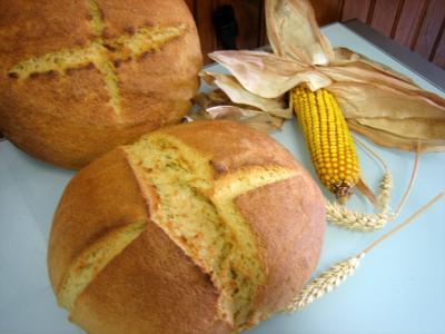 farine de maïs : Pain au maïs